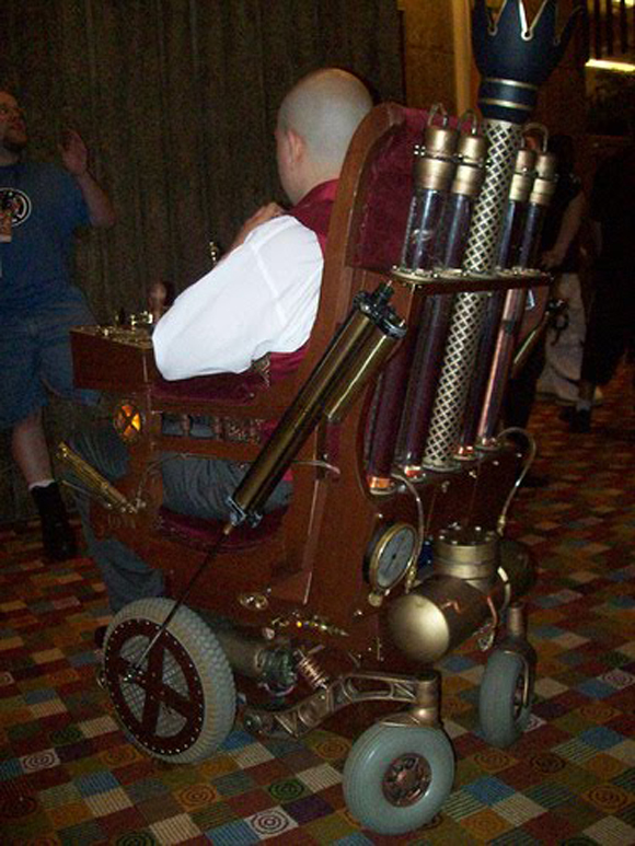 Steam Punk Wheelchair Art Car