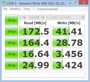 Mediacom SmartPad iPro W810, prestazioni del disco eMMC