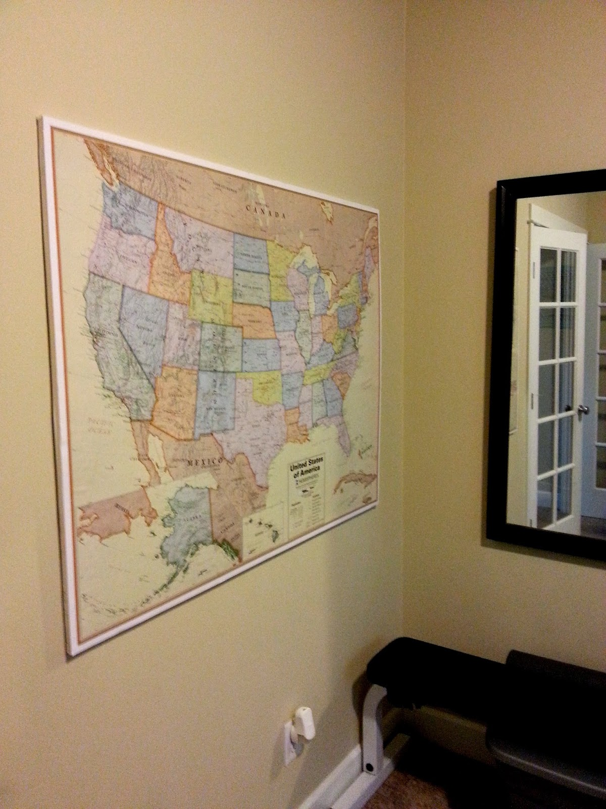 Mount And Hang Large Maps With Ease So Much To Make - How to hang a large map
