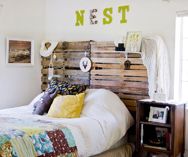 cabezal de  cama de pallet