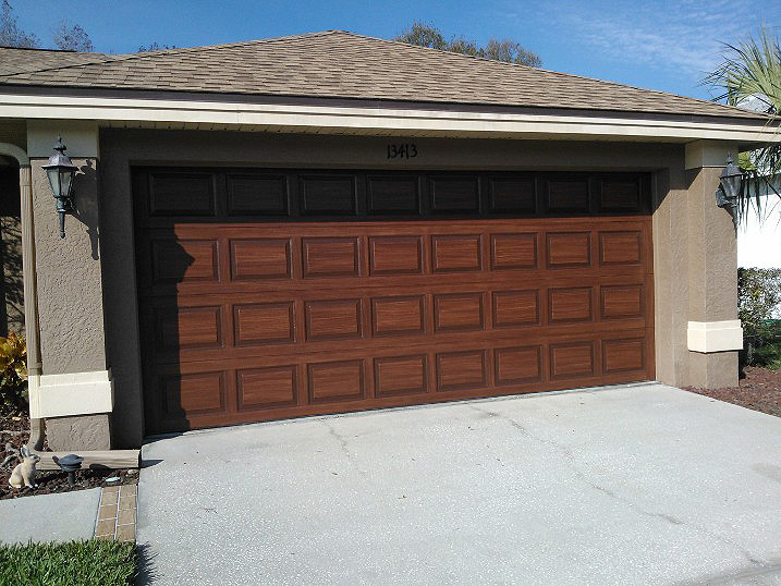 February 2012 everything i create paint garage doors for Paint garage door to look like wood