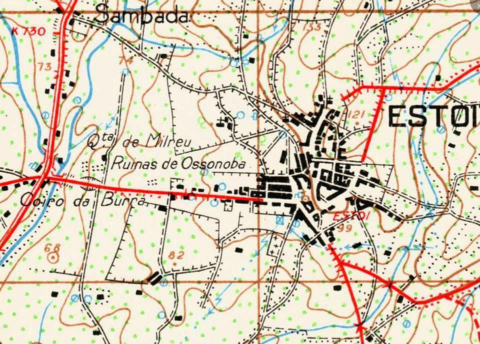 Mapa de Estoi