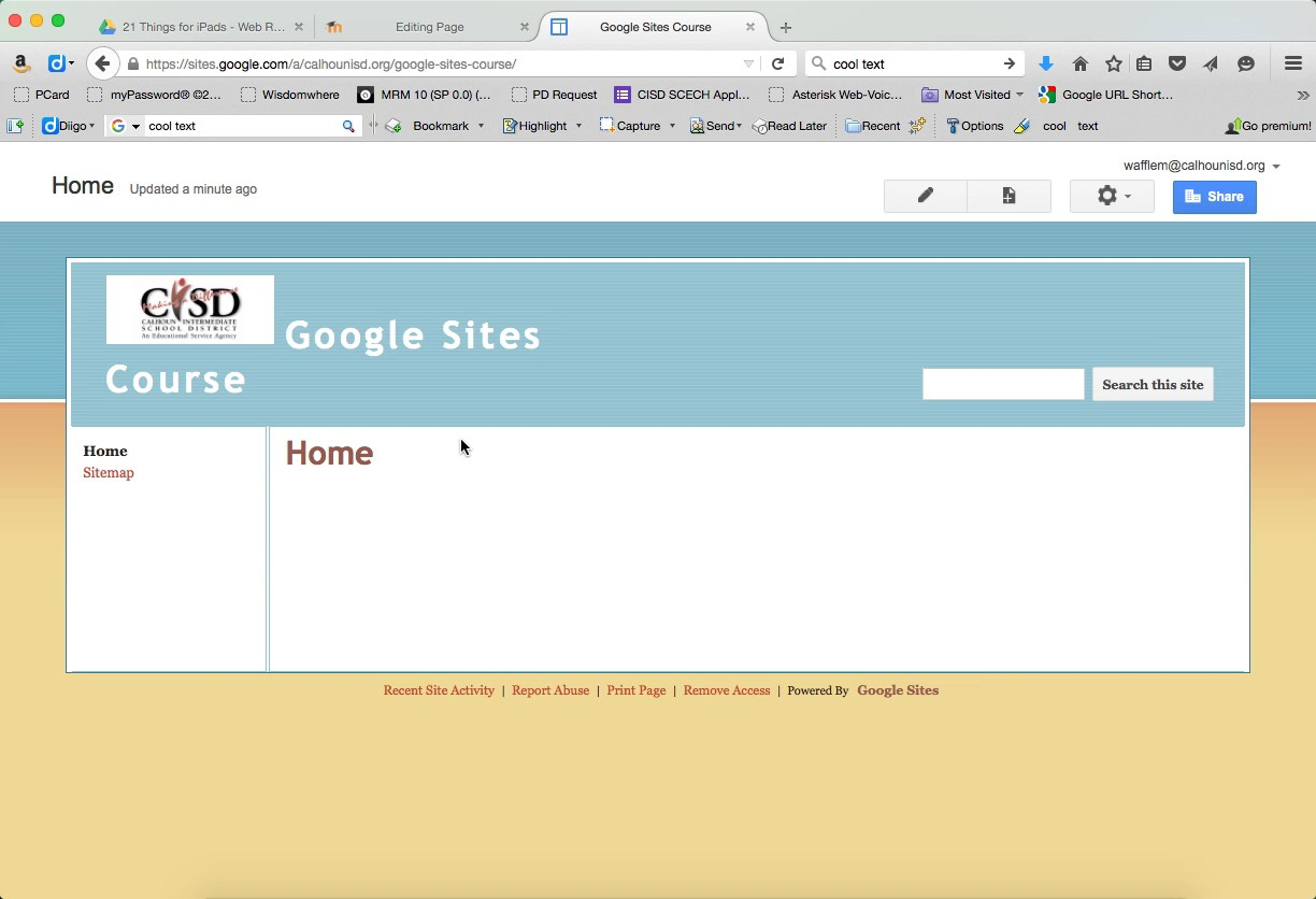 Google Sites Create A New Site