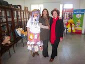 Marta Cardoso y la Sra. Lectura en la BIBLIOTECA POPULAR AVELLANEDA
