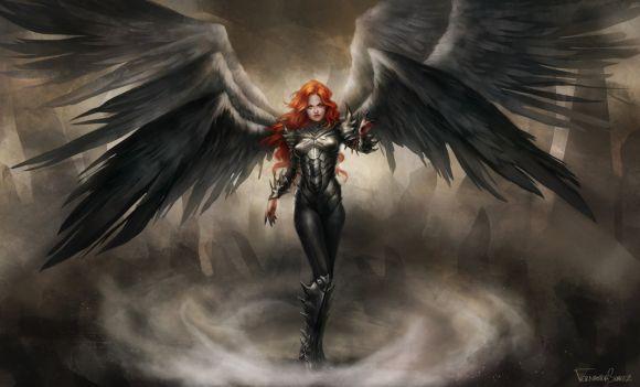 fernanda suarez ilustrações fantasia mulheres Anja negra