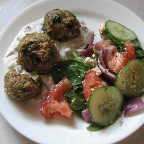 ... - Recipes: Greek Turkey Feta Meatball Recipe with Tzatziki Sauce