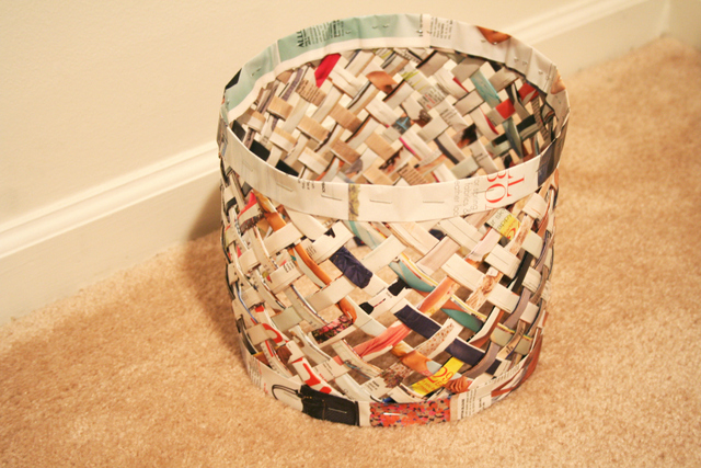 How to recycle recycled waste paper basket - How to reuse magazines seven inspired ideas ...