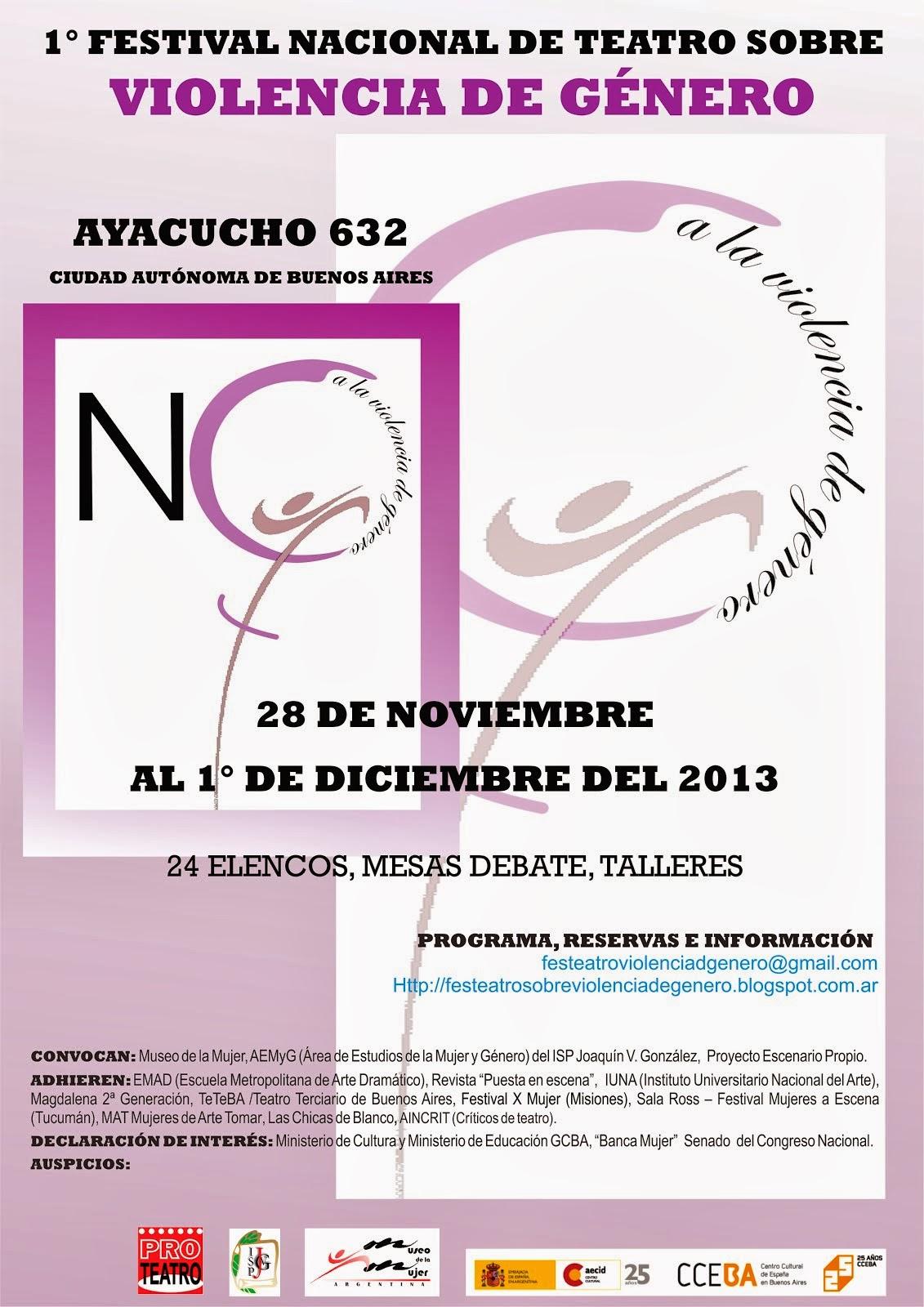 1er Festival sobre Violencia de Género