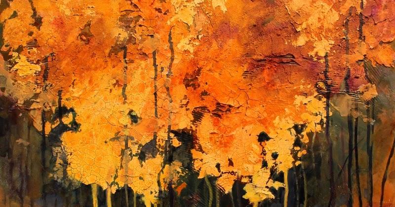 Fine Art Painting Crackle Acrylic