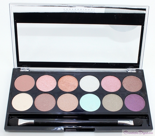MUA Makeup Academy Spring Break Eyeshadow Palette review, swatches