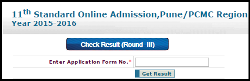 FYJC Pune/PCMC 3rd Round Cut Off Merit List 2015 Published