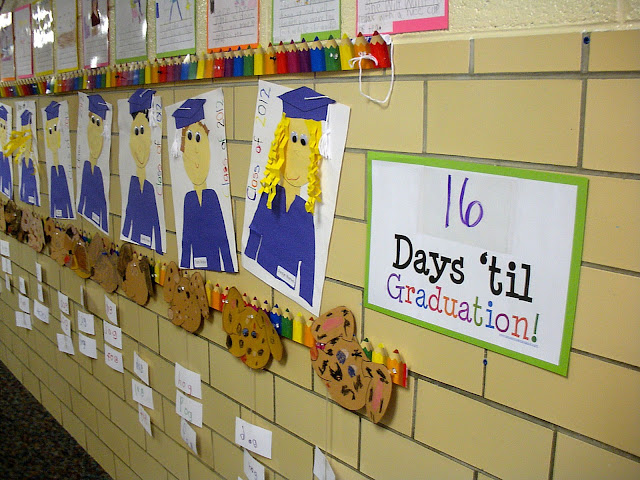 cute project for kindergarten graduation and the sign is a FREE download!