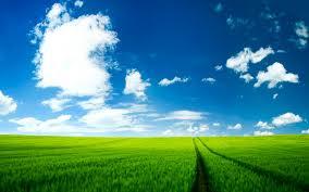 خلفية صورة سماء زرقاء مع زرقة مياه البحر