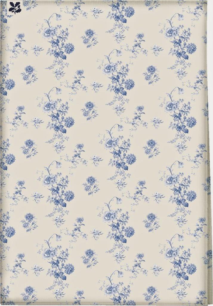 light blue flower tea towel