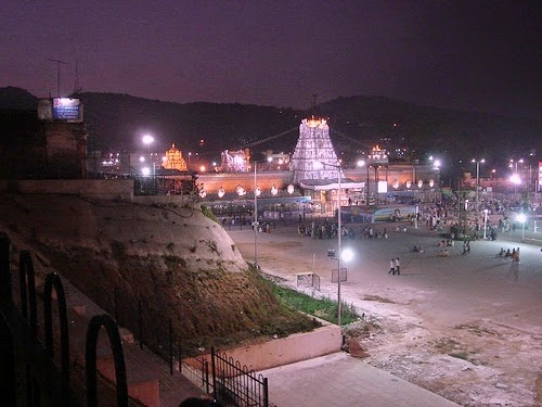 Night view at tirupati balaji temple