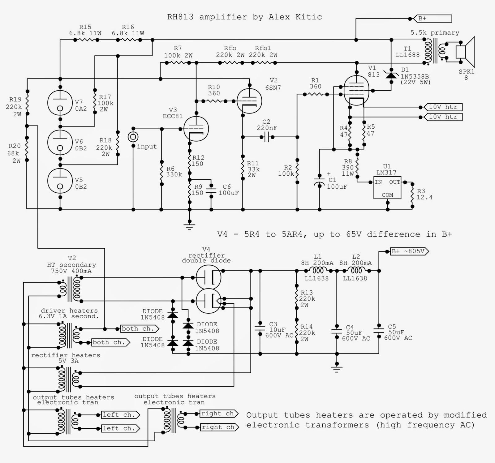 Rh Amplifiers Audio Power Amplifier Schematics 4w 8 Watt Amp