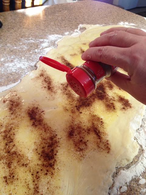 Sprinkle 1 Cup Of Sugar Over The Cinnamon And Butter