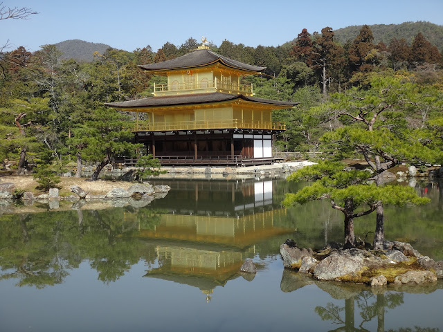 Kinkakuji (Golden Pavilion) is a Zen temple in Kyoto, Japan
