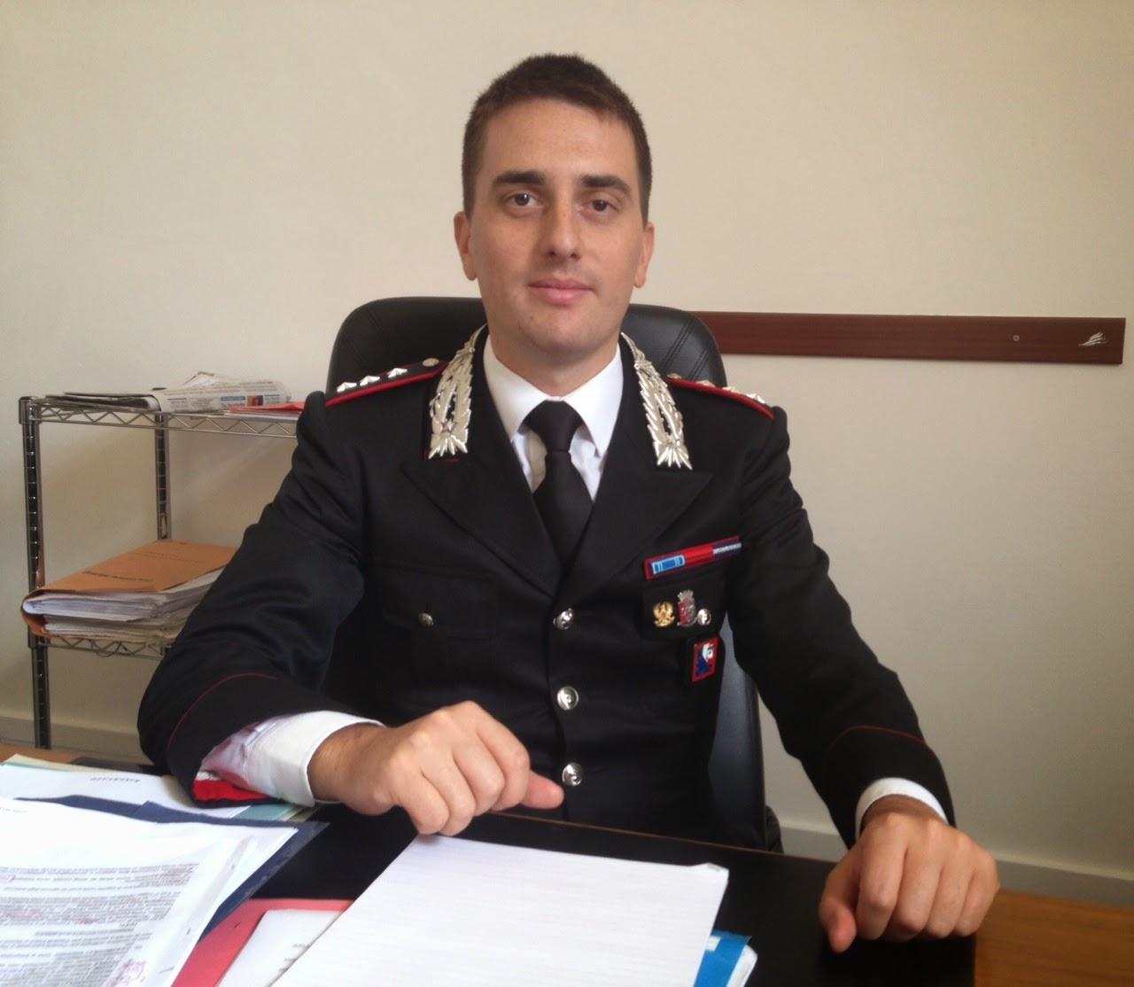 Il Comandante dei Carabinieri della Compagnia di Trani.