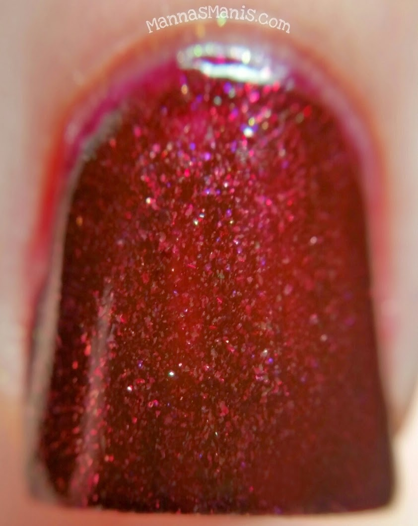 zoya india, a red nail polish