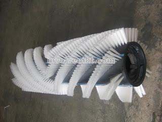 rotating brush, rotary brush, roller brush, cylinder brush