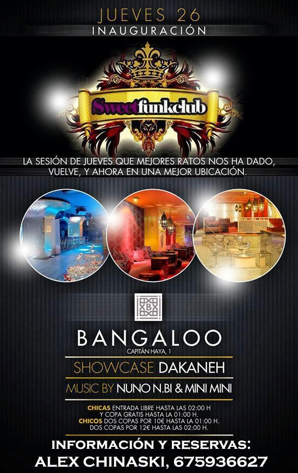 Bangaloo SWEET Inauguración Jueves 26 de Septiembre