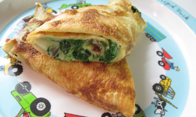 Spinach & Cheese Pancakes - Palatschinken recipe