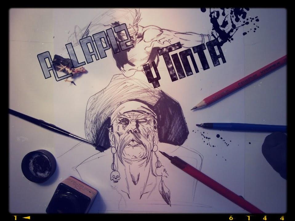 A lápiz y tinta