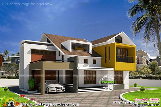 Modern villa in Kerala