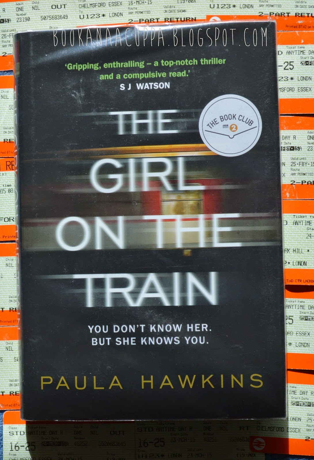 Paula Hawkins, blog, The Girl on the Train, review, book review, front cover, photo, picture, thriller, must read, phenomenon