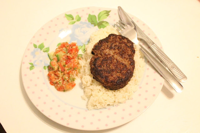 slimming world meal salsa rice and peppered steak syns