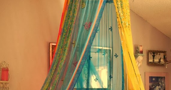 Bed Canopy No Nails : Babylon sisters bohemian gypsy bed canopy