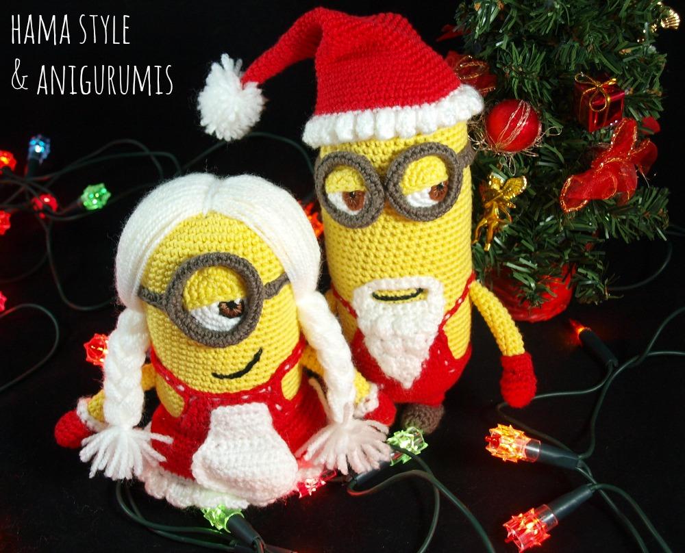 Amigurumis Navideños Patrones Gratis : Marta ruso crochet creativo: minions navideÑos ¡bananaaaaa !