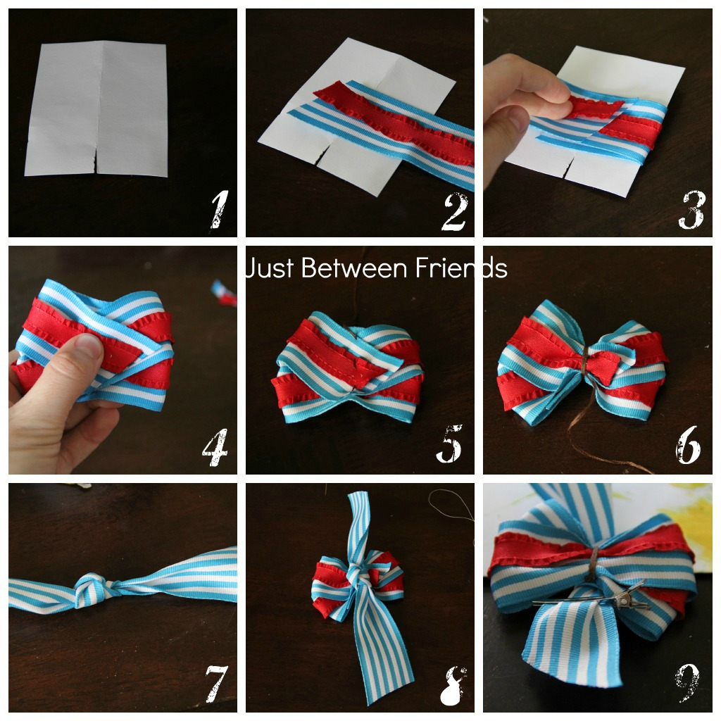 Patriotic hair bow tutorial just between friends 1 cut your cardstock to be 3 inches wide the height doesnt really matter baditri Image collections
