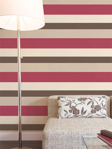 Boutique papel pintado only stripes - Papel pintado de rayas verticales ...