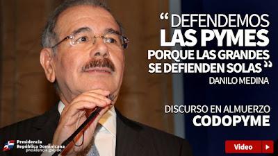 VIDEO: CODOPYME reconoce al presidente Danilo Medina por su solidaridad con Pymes