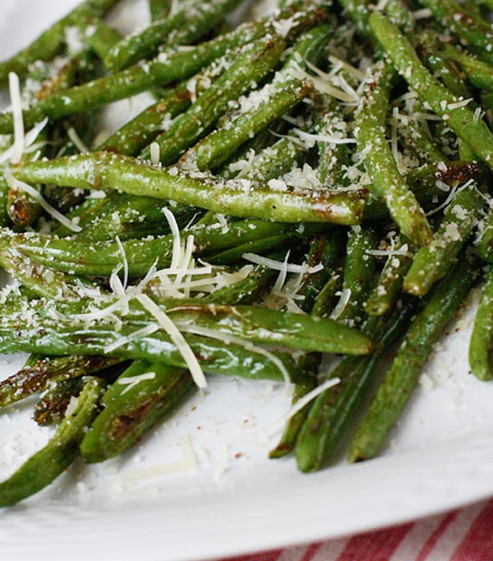 Cooking Pinterest: Roasted Parmesan Green Beans