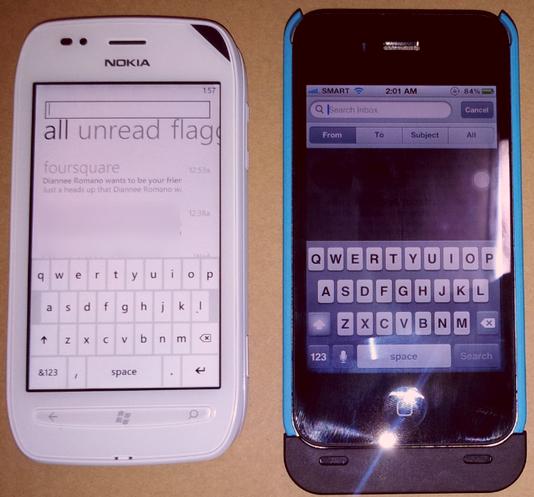 nokia lumia 710 vs iphone 4s
