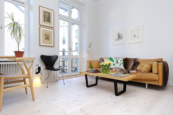 Nội thất cổ điển Châu Âu - Căn hộ nhỏ 39m² thông thoáng và ngập tràn ánh sáng tự nhiên