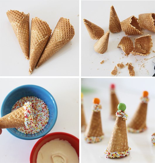 DIY Party Hat Ice Cream Topper | Paper & Party Love