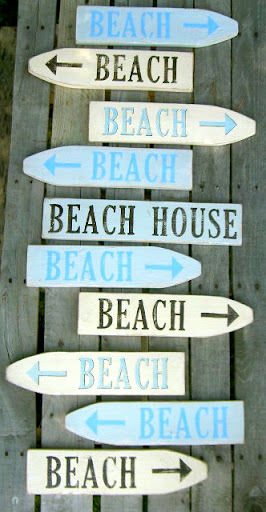 beach signs made with fencing