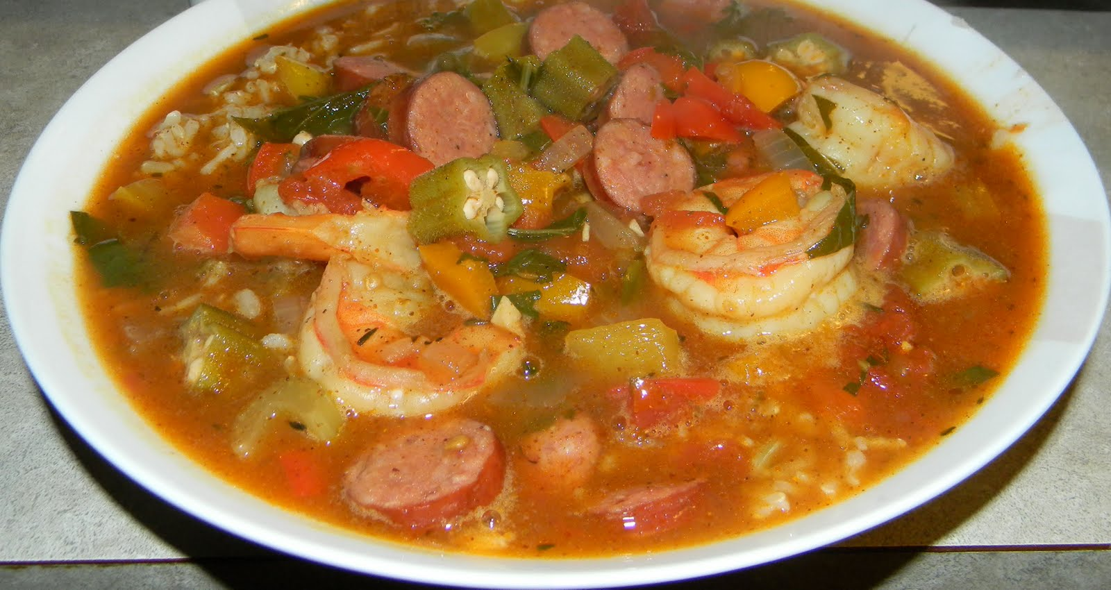 Live, Laugh, Eat...: Shrimp and Andouille Sausage Gumbo