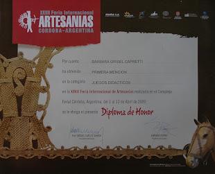 primera mencion feria de artesanias 2009