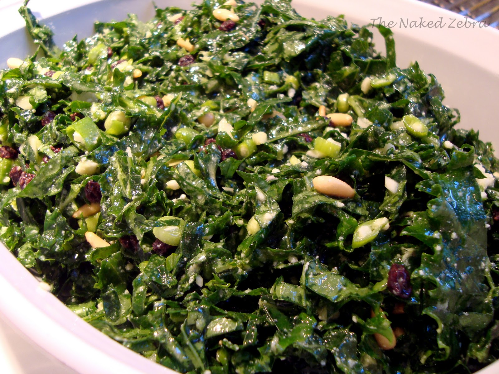 pine nuts shredded kale salad with pine nuts currants and parmesan