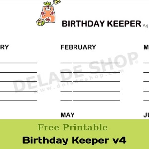 Pin It! Birthday Keeper v4 by DELADESHOP.COM