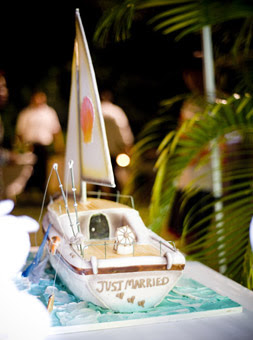Sea boat wedding cake