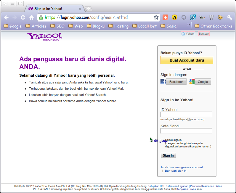 Mail Yahoo Sign