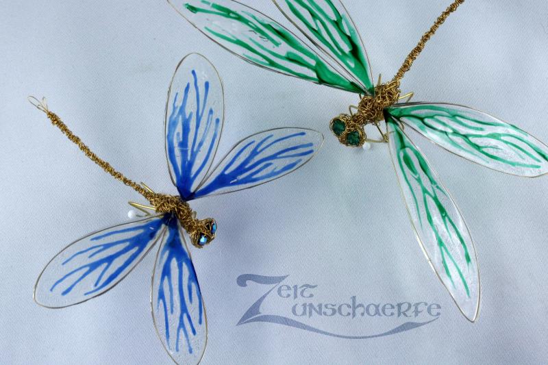 Draht-Libellen mit Wondow Color-Flügeln by Zeitunschaerfe