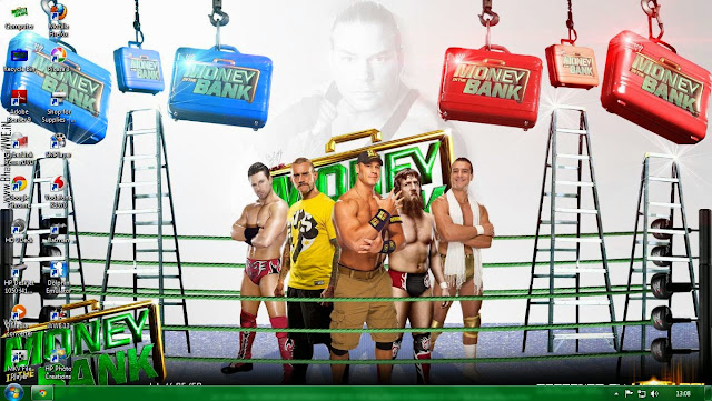 Download » Money In The Bank 2013 Windows 7 Theme Free HQ Download (By Uday Rai Via iPOST)