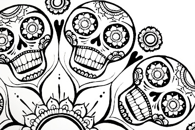 Flower Sugar Skull Coloring Pages
